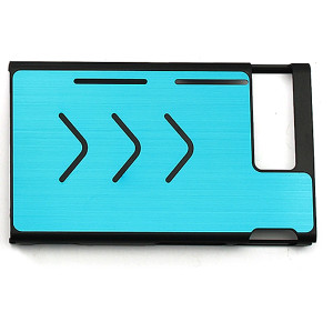 Anti-slip Aluminum Protective Case Cover Skin Shell For Nintendo Switch Console 7 Colors (Light Blue)