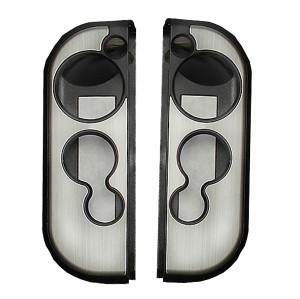 Aluminum Case Cover Protector For Nintendo Switch Grip Joy-Con Controller 7 Colors (Silver)