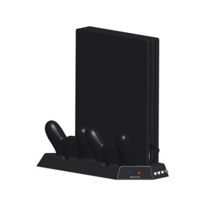 Multi-Function Charging Stand with Built-in Cooling Fans and USB HUB for PS4 Pro - Black