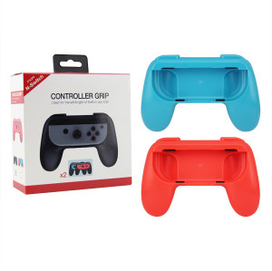 2PCS For Nintendo Switch Joy-Con Handle Controller Grip Gaming Handheld Holder (Red+Blue)