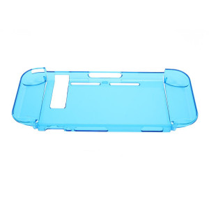 Transparent Skin Anti-Scratch Hard Back Case Cover for Nintendo Switch (Crystal Blue) )
