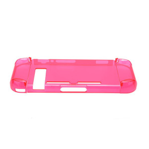 Transparent Skin Anti-Scratch Hard Back   Case Cover for Nintendo Switch (Crystal Red )