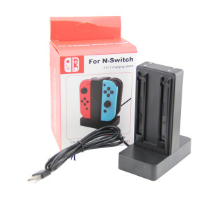 Nintendo Switch 4 in 1 Charging Stand Joy-Controller (Black)