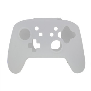 Silicone Skin Protective Case Cover for Nintendo Switch Controller(Transparent white)