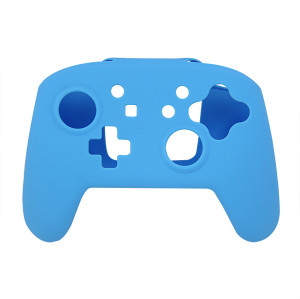 Silicone Skin Protective Case Cover for Nintendo Switch  Controller(Blue)