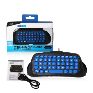 Wireless Bluetooth Keyboard for PS4 Slim/Pro Dual Shock 4 Gaming Controller