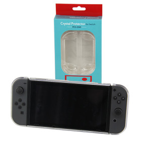 3in1 Transparent Crystal Protecting Cover Case for Nintendo Switch Gamepad - Clear White