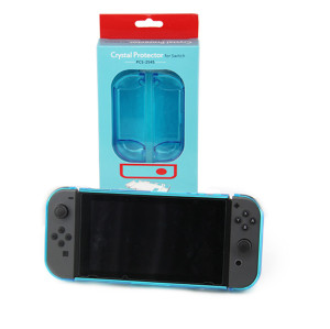 3in1 Transparent Crystal Protecting Cover Case for Nintendo Switch Gamepad - Clear Blue