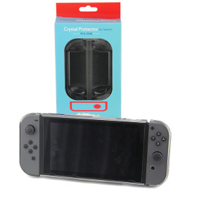 3in1 Transparent Crystal Protecting Cover Case for Nintendo Switch Gamepad - Clear Black