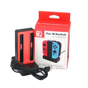 Nintendo Switch 4 in 1 Charging Stand Joy-Controller (Red)