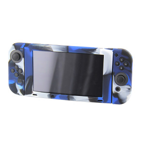 Nintendo Switch Console Camouflage Silicone Case (Camouflage Blue)