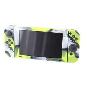 Nintendo Switch Console Camouflage Silicone Case  (Camouflage Green)
