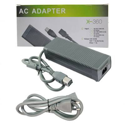 Xbox 360 Fat Console Charger Cord AC Adapter (EU)
