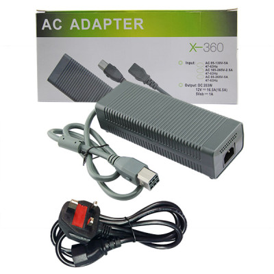 Xbox 360 Fat Console Charger Cord AC Adapter (UK)