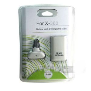 Xbox 360 Fat Battery Pack Chargeable Cable (White)