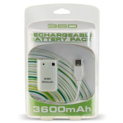 Xbox 360 Fat 3600mAh Rechargeable Battery Pack With USB Cable