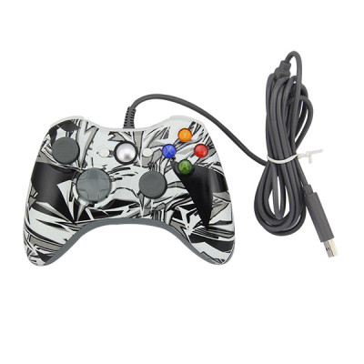 Xbox 360 Fat Controller Gamepad (Camouflage Black)