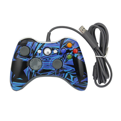 Xbox 360 Fat Controller Gamepad (Camouflage Blue)