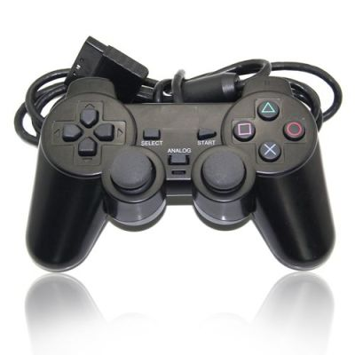 PS2 Wired Controller Dual Vibration Joystick Gamepad Joypad