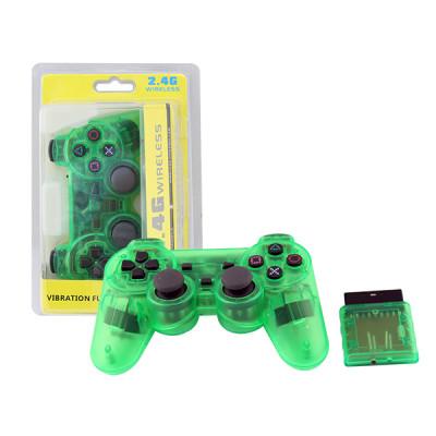 PS2 Wireless Controller Gamepad 2.4G Vibration Controle Joystick- Green