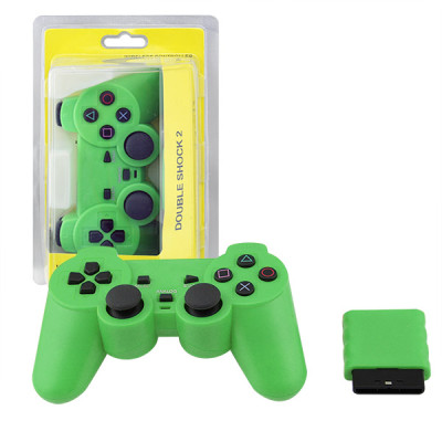 PS2 2.4G Wireless Game Gamepad Green