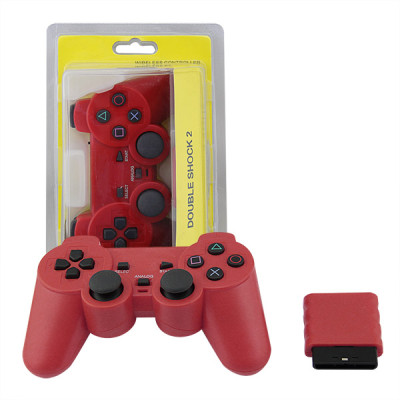 PS2 2.4G Wireless Game Gamepad Red