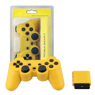 PS2 2.4G Wireless Game Gamepad Yellow