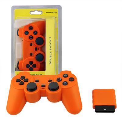 PS2 2.4G Wireless Game Gamepad Orange