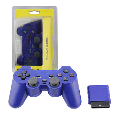 PS2 2.4G Wireless Game Gamepad Crystal Blue