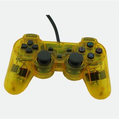 PS2 Dual Shock Controller(Transparent yellow)