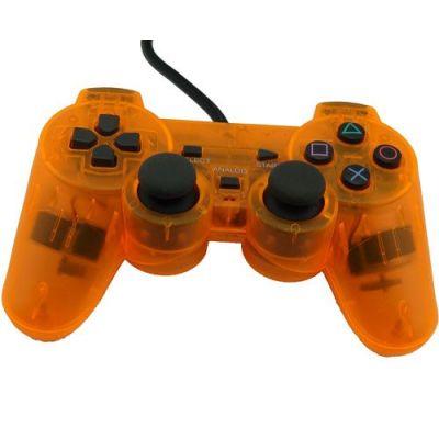 PS2 Dual Shock Controller(Transparent Orange)