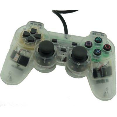 PS2 Dual Shock Controller(Transparent)