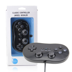 Wii Controller Wired Gamepad Classic Style (Black)