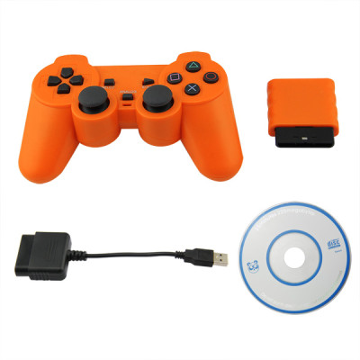 PS2/PS3/PC 3 in 1 Wireless Controller Orange