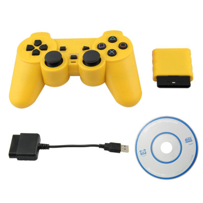 PS2/PS3/PC 3 in 1 Wireless Controller Yellow