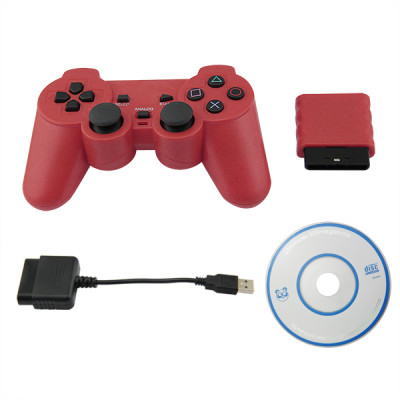 PS2/PS3/PC 3 in 1 Wireless Controller Red