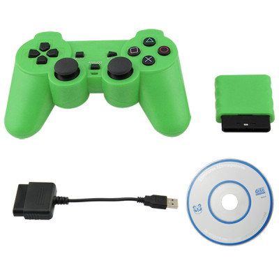 PS2/PS3/PC 3 in 1 Wireless Controller Green