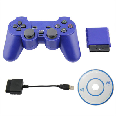 PS2/PS3/PC 3 in 1 Wireless Controller Blue