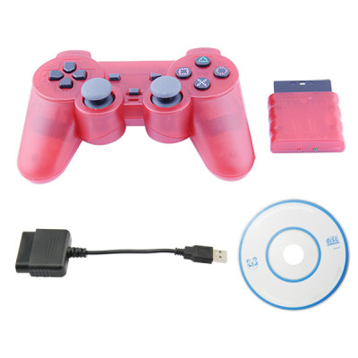 PS2/PS3/PC 3 in 1 Wireless Controller -Crystal RED