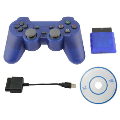 PS2/PS3/PC 3 in 1 Wireless Controller-Crystal Blue