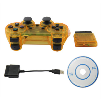PS2/PS3/PC 3 in 1 Wireless Controller- Crystal Yellow