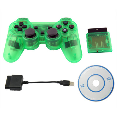 PS2/PS3/PC 3 in 1 Wireless Controller-Crystal Green