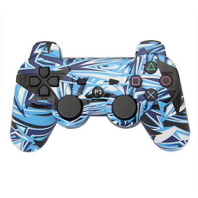PS3 Bluetooth  Controller(Blue+White Graffiti)without Packing
