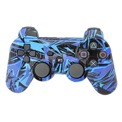 PS3 Bluetooth Controller (Blue Graffiti) Without Packing