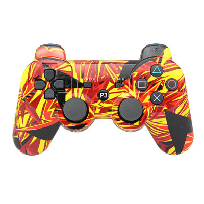 PS3 Bluetooth Controller(Yellow Graffiti)  without Packing