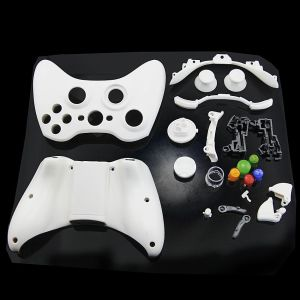 Xbox 360 Fat Wireless Controller Full Shell Housing Case (White)