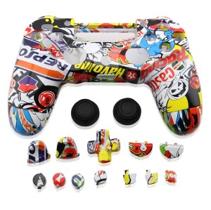 PS4 Wireless Controller Hydro Dipped Shell Mod Kit (Sticker Bomb)