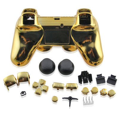 Electroplate Case for PS3 Controller Gold