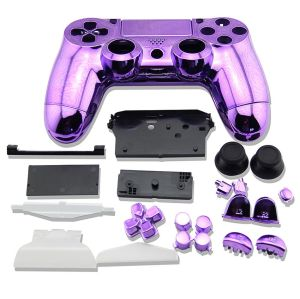 PS4 Controller Electroplate Housing Full Shell Case (Purple)