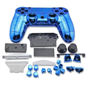 PS4 Controller Electroplate Housing Full Shell Case (Blue)